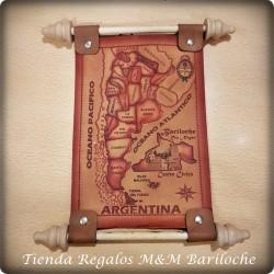 Mapa Cuero Chico 22x14 Cm