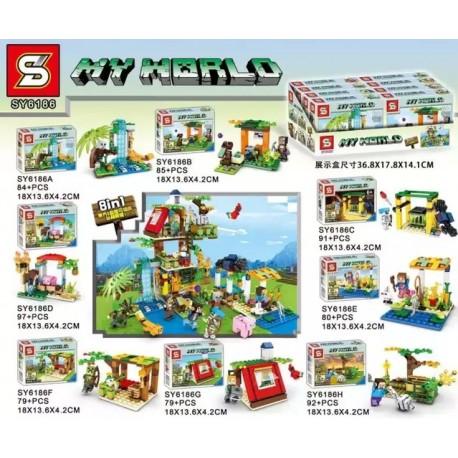 Lego 6186 Minecraft Sy (x8)