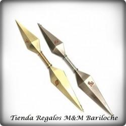 Naruto Kunai Arma Metal Punta Doble Blister 22 CM