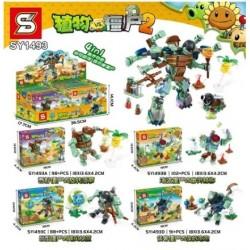 Lego 1493 Planta vs Zombie Sy (x4)