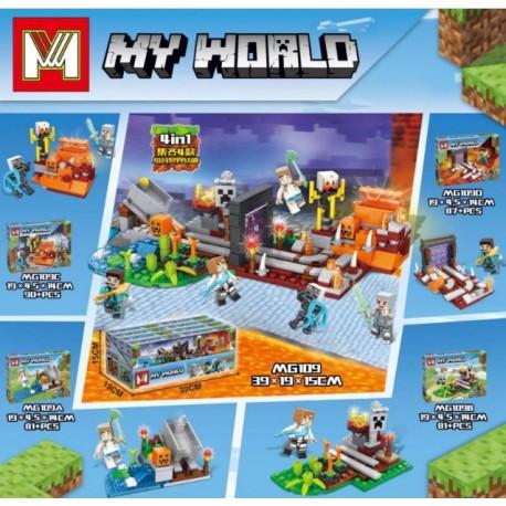 Lego 109 Minecraft Mg (x4)