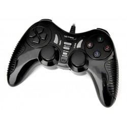 Joystick PC / PS3 Black Doble Vibracion Netmak (Ly)