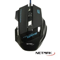 Mouse Gamer Retroiluminado 2400Dpi Netmak (Ly)