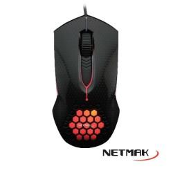 Mouse Shock Gamer Retroiluminado Netmak (Ly)