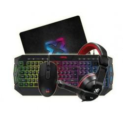 Kit Teclado Gamer Mouse + Vincha + Pad Marca Soul (Ly)