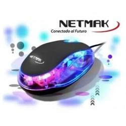 Mouse Usb Luminoso Color Variados Netmak (Ly)