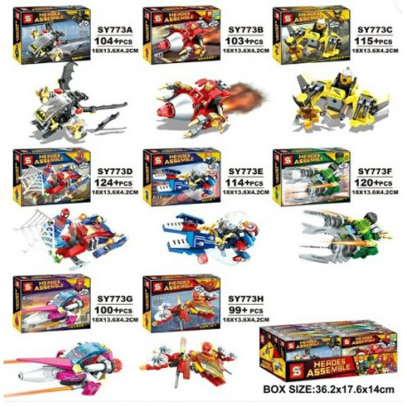 Lego 773 Heroes Assemble (x8)